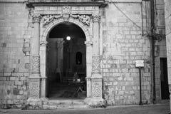 Een kerk in Sicilia stock afbeeldingen