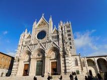 Een kerk in Siena, Italië royalty-vrije stock fotografie