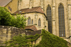 Een kerk in Tübingen, Zuid-Duitsland Stock Fotografie