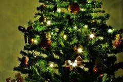 Een Kerstboom Royalty-vrije Stock Fotografie