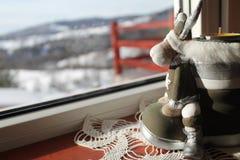 Een Kerstmislaars Eigenlijk een Kaars royalty-vrije stock afbeeldingen