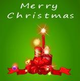 Een Kerstmismalplaatje met kaarsen stock illustratie