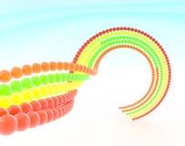 Een ketting van kleurenballen Stock Afbeeldingen