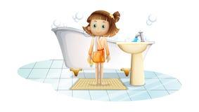 Een kind boven de deken royalty-vrije illustratie