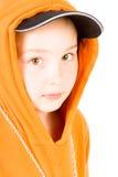 Een kind in een honkbal GLB Royalty-vrije Stock Foto