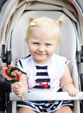 Een kind met een lolly Royalty-vrije Stock Foto's