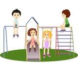 Een Kinderen` s Speelplaats Illustratie royalty-vrije illustratie