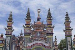 Een Klapbegraafplaats, Stad van Spoken, graven en details, Vietnam royalty-vrije stock afbeelding