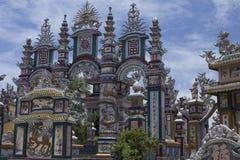 Een Klapbegraafplaats, Stad van Spoken, graven en details, Vietnam stock afbeelding