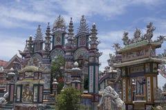 Een Klapbegraafplaats, Stad van Spoken, graven en details, Vietnam royalty-vrije stock fotografie