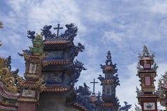 Een Klapbegraafplaats, Stad van Spoken, graven en details, Vietnam royalty-vrije stock foto's