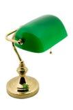 Een klassieke bankierslamp Stock Afbeeldingen