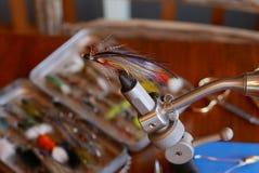 Een klassieke Magog-vlieg van de spieringszalm Stock Foto