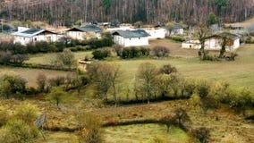 Een klein dorp Stock Afbeeldingen