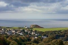 Een klein dorp in Cornwall Stock Afbeeldingen