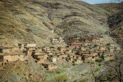 Een klein dorp in de Atlasbergketen stock foto's