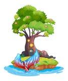 Een klein eiland vector illustratie