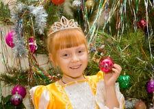 Een klein meisje in een kleding van Prinses royalty-vrije stock afbeelding