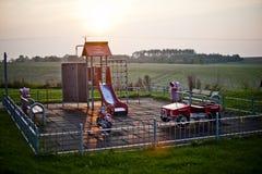 Een klein park in porland stock afbeeldingen