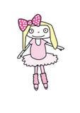 Een kleine ballerina Royalty-vrije Stock Foto's