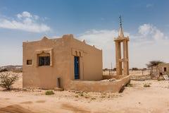 Een kleine familiemoskee dichtbij AR Ruwaidhah op Makkah Al Mukarramah Road, Saudi-Arabië stock afbeeldingen