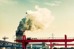 Een kleine ijzer en een staalfabriek Royalty-vrije Stock Foto's