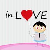 Een kleine Jongen in liefde voor altijd Stock Foto