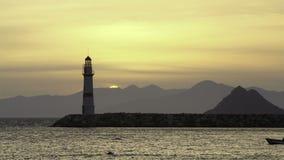 Een kleine kuststad Turgutreis stock video