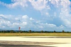Een kleine luchthaven Stock Foto's