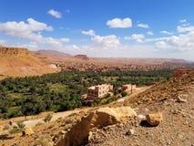 Een kleine oase in de woestijn royalty-vrije stock afbeelding