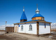 Een kleine Orthodoxe kerk Stock Afbeeldingen
