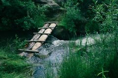 Een kleine rivierbrug royalty-vrije stock foto