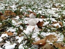 Een kleine sneeuwman Stock Fotografie
