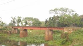 Een kleine spoorwegbrug royalty-vrije stock afbeeldingen