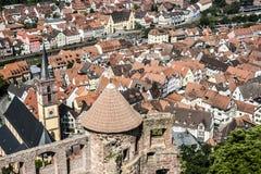 Een kleine stad in Duitsland Stock Foto