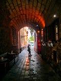 Een kleine tunnel in Boedapest royalty-vrije stock foto