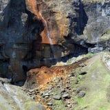 Een kleine waterval, IJsland Stock Foto