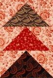 Een kleurrijk dekbedpatroon riep vliegende ganzen royalty-vrije stock afbeelding