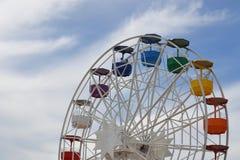 Een kleurrijke carrousel in Barcelona, Spanje stock foto's