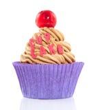 Een kleurrijke cupcake Stock Afbeelding