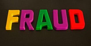 Een kleurrijke fraude? Stock Foto's