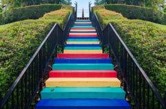 Een kleurrijke trap Royalty-vrije Stock Fotografie