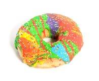 Een kleurrijke verglaasde doughnut Royalty-vrije Stock Fotografie