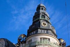 Een klokketoren in Wenen Stock Afbeeldingen