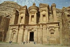 Een klooster in Petra Stock Foto