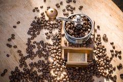 Een koffiemolen met natuurlijk licht Royalty-vrije Stock Foto