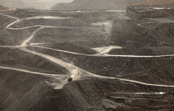 Een kolenmijn, Appalachia, Amerika royalty-vrije stock foto