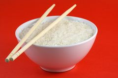 Een kom rijst Royalty-vrije Stock Afbeeldingen
