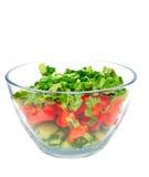 Een kom salade Royalty-vrije Stock Afbeeldingen