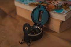 Een kompas royalty-vrije stock foto
